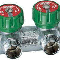 Коллектор регулирующий FAR 3/4-1/2 на 2 контура под плоское уплотнение