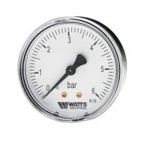 "Watts F+R100(MDA) 50/6x1/4"" Манометр аксиальный 50мм, 0-6 бар"