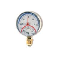 "Watts FR828 Термоманометр радиальный 10х1/2"" DN 80 (0-10 бар)"