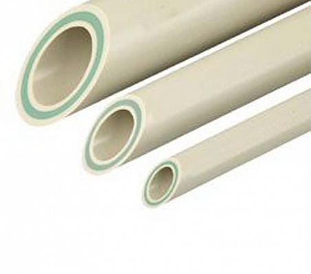 Труба полипропиленовая армированная PN20 Faser со стекловолоконным слоем FV-PLAST 40х6.7мм штанга 4м