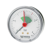 "Watts F+R101(MHA) 80/4x1/4"" Манометр аксиальный 80мм, 0-4 бар"
