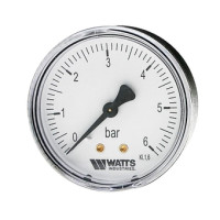 "Watts F+R100(MDA) 80/10x1/4"" Манометр аксиальный 80мм, 0- 10 бар"