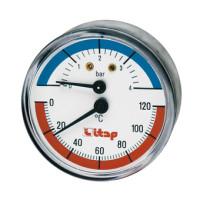 Термоманометр Itap 485 1/2 осевое подключение