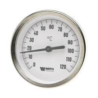 Термометр Watts F+R801(T) 80/50 биметаллический с погружной гильзой 50 мм, штуцер 50 мм.