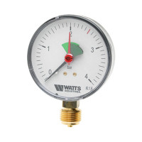 """Манометр радиальный Watts F+R201(MHR) 63/4x1/4"""" 63мм, 0-4 бар"""