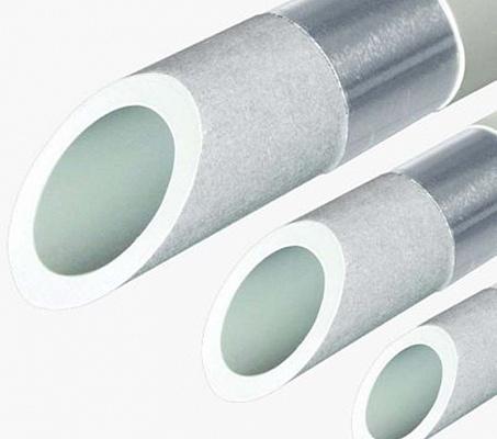 Труба полипропиленовая армированная PN20 Stabioxy с алюминиевым слоем без перфорации FV-PLAST 63х7.1мм штанга 4м