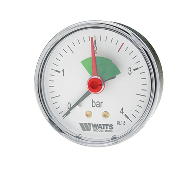 "Манометр аксиальный Watts F+R101(MHA) 63/4x3/8"" 63мм, 0-4 бар"