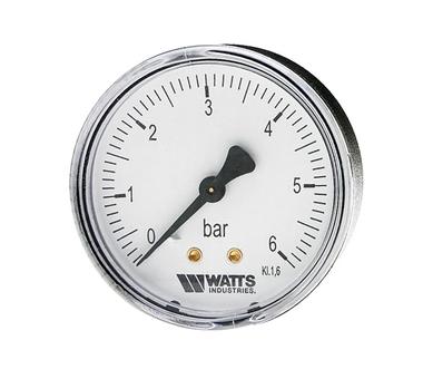 """Манометр аксиальный Watts F+R100(MDA) 80/6x1/4"""" 80мм, 0- 6 бар"""
