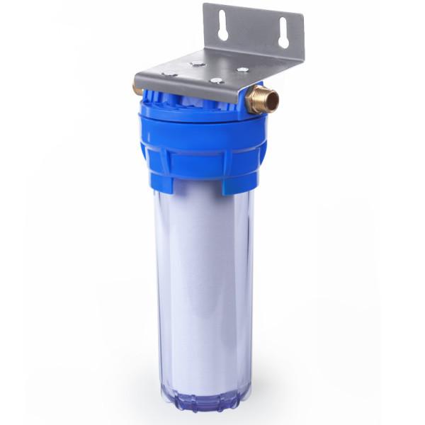 Корпус фильтра Гейзер 1П 1/2″ прозрачный (металлическая скоба)
