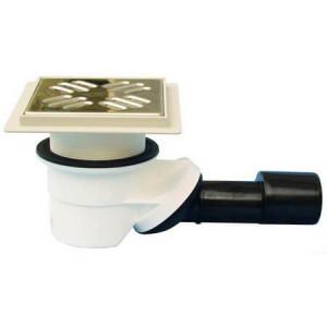 Сифон HL с подрамником 123х123мм и решёткой из нержавеющей стали, DN 40/50