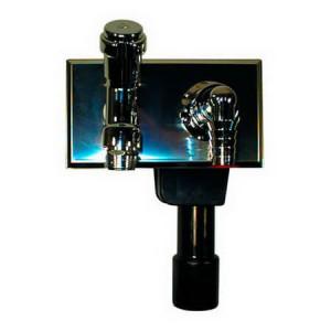 Сифон HL встроенный, с никелированным вентилем DN 40/50