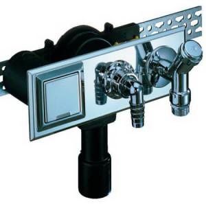 Сифон HL встроенный, с плитой, с подсоединением к водопроводу и электрической розеткой, DN 40/50