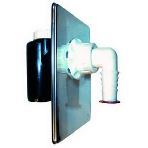 Сифон HL встроенный, с обратным клапаном, прочисткой, DN 40/50