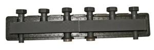 Стальной распределительный коллектор Stout 2 контура в теплоизоляции