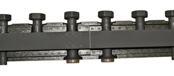 Стальной распределительный коллектор Stout 6 контура в теплоизоляции