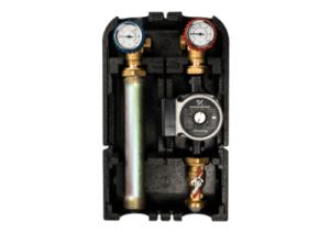Насосная группа Stout 1 DN25 без насоса с термостатическим смесителем