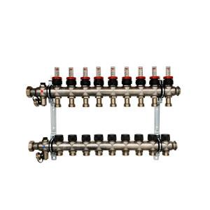 Коллектор для теплого пола Oventrop Multidis SF на 9 контуров