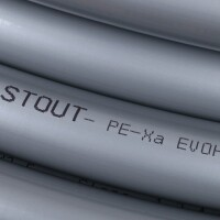 16х2,2 (бухта 100 метров) PEX-a труба из сшитого полиэтилена с кислородным слоем, серая STOUT  SPX-0001-001622