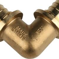 Угольник 90° 16 для труб из сшитого полиэтилена аксиальный STOUT SFA-0007-000016