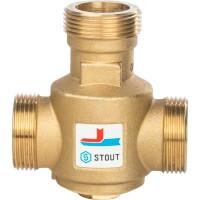 """Термостатический смесительный клапан G 1"""" 1/4 НР 55°С STOUT SVM-0030-325504"""