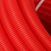 Труба гофрированная ПНД, цвет красный, наружным диаметром 20 мм для труб диаметром 14-18 мм  STOUT SPG-0002-102016