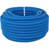 Труба гофрированная ПНД, цвет синий, наружным диаметром 20 мм для труб диаметром 14-18 мм  STOUT SPG-0001-102016